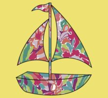 Lilly Pulitzer Inspired Sailboat Lulu Kids Clothes