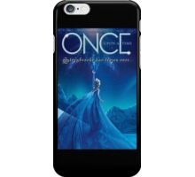 Once Upon a Time, light blue v2, season 4, OUAT, storybrooke has frozen over iPhone Case/Skin