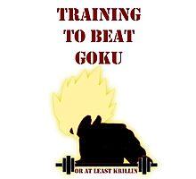 Training To Beat Goku! Photographic Print