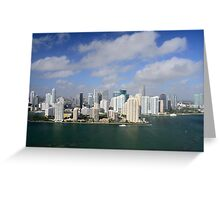 Downtown Miami Greeting Card