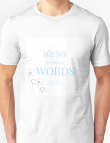 We Live and Breathe Words- The Infernal Devices T-Shirt