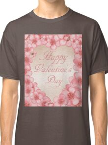 Happy Valentine In Pink Classic T-Shirt