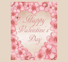Happy Valentine In Pink Unisex T-Shirt