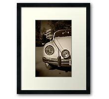 OLD RETRO VINTAGE BEETLE CAR Framed Print