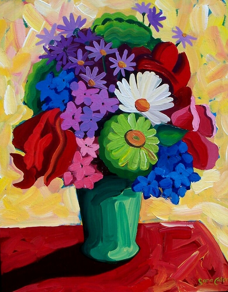 STILL  LIFE  GREEN  VASE by ART PRINTS ONLINE         by artist SARA  CATENA