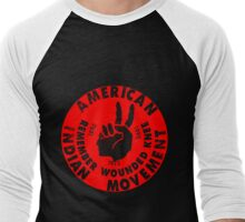 AIM (American Indian Movement) Men's Baseball ¾ T-Shirt
