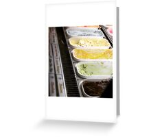 Shades Of Ice Cream Flavours & Colours Greeting Card
