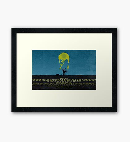 Starman Lyrics Framed Print