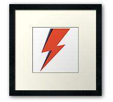 David Bowie Minimal Lightning Ziggy Stardust Framed Print