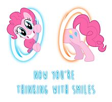 Now You're Thinking With Smiles - Pinkie Pie - MLP Photographic Print