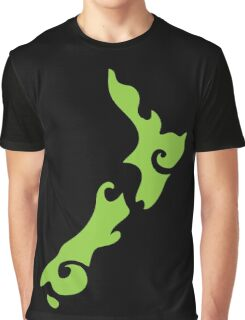 New Zealand tattoo stylized map in green Graphic T-Shirt