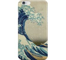 Vintage poster - The Great Wave Off Kanagawa iPhone Case/Skin