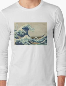 Vintage poster - The Great Wave Off Kanagawa Long Sleeve T-Shirt