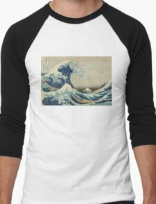 Vintage poster - The Great Wave Off Kanagawa Men's Baseball ¾ T-Shirt