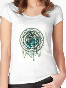 Turquoise Mandala Women's Fitted Scoop T-Shirt