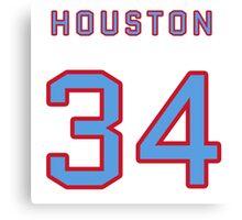 Houston Retro Football (I) Canvas Print