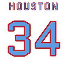 Houston Retro Football (I) Photographic Print