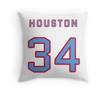 Houston Retro Football (I) Throw Pillow