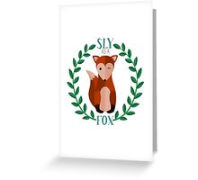 Sly as a Fox Greeting Card
