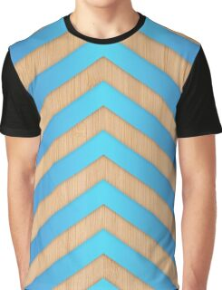 turquoise chevron Graphic T-Shirt