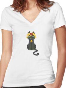 Chat Noir & Ladybug Women's Fitted V-Neck T-Shirt