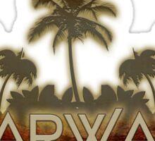 Clearwater Florida palm tree design Sticker