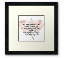 SUPERWHOLOCK all in a day's work Framed Print