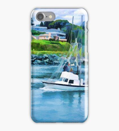 Brookings Sailboat Digital Painting iPhone Case/Skin