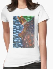 Monster 2 - Abstract Womens Fitted T-Shirt