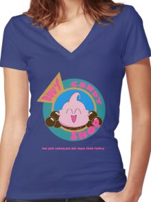 Buu's Candy Shop - Dragonball Z Women's Fitted V-Neck T-Shirt