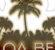 Cocoa Beach Florida palm tree design Sticker