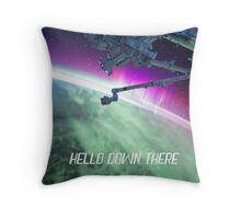 Hello Down There Throw Pillow