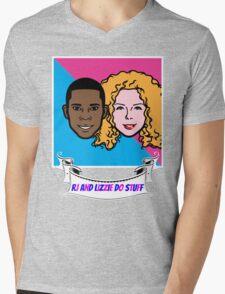 RJ and Lizzie Do Stuff Mens V-Neck T-Shirt
