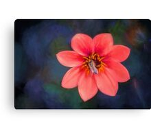 Red Dahlia  (OG) Canvas Print