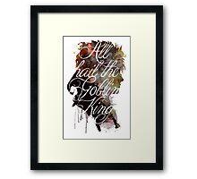 David Bowie // Labyrinth // All Hail the Goblin King Framed Print