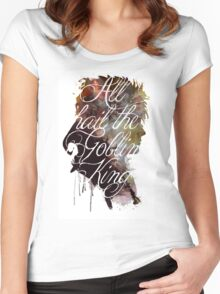 David Bowie // Labyrinth // All Hail the Goblin King Women's Fitted Scoop T-Shirt