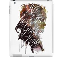 David Bowie // Labyrinth // All Hail the Goblin King iPad Case/Skin
