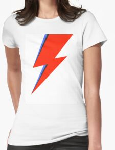Aladdin Sane Lightning Flash  Womens Fitted T-Shirt