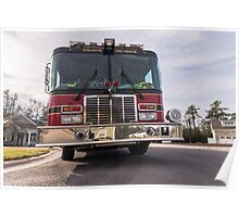Big Red  fire truck  Poster