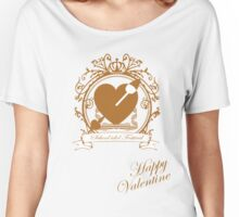 Valentine's Day Love Live! Inspired Shirt in Gold Women's Relaxed Fit T-Shirt