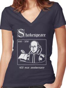 Shakespeare -- 400 Year Anniversary Women's Fitted V-Neck T-Shirt