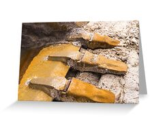 Excavator fingers Greeting Card