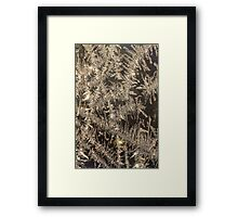 Sparkling Ice Crystals Framed Print