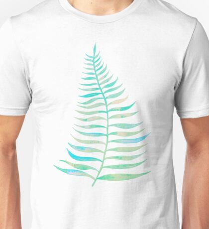 Palm Leaf – Sea Foam Palette Unisex T-Shirt