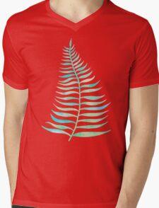 Palm Leaf – Sea Foam Palette Mens V-Neck T-Shirt