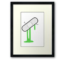 Patch Up (Green) Framed Print
