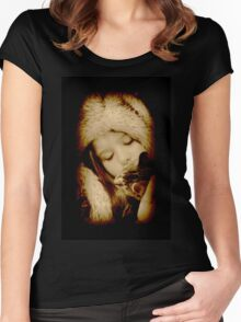 Sepia Serenity Women's Fitted Scoop T-Shirt