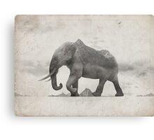 Rocky Elephant Canvas Print