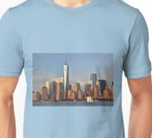 Lower Manhattan view from the Hudson River, NYC Unisex T-Shirt