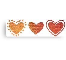 3 hearts Canvas Print